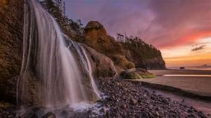 Abiqua, Falls, Oregon, Usa, Wallpaper, Widescreen, Hd, Resolution