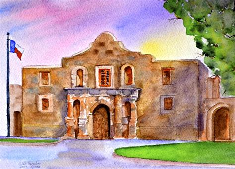 The Alamo San Antonio Painting By Ruth Gerstner