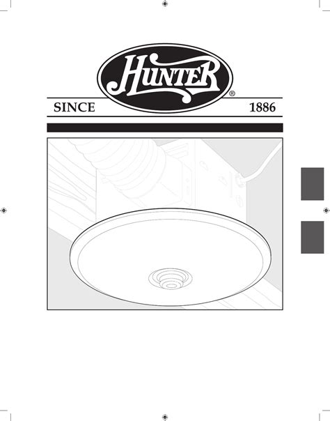 hunter fan ventilation hood  user guide