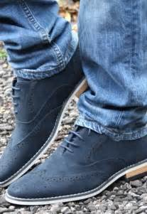 Men's Blue Suede Shoes and Jeans