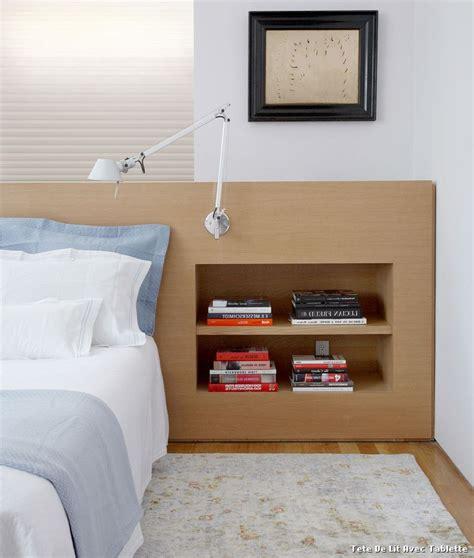 tete de lit avec tablette with contemporain chambre