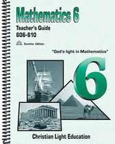 christian light math christian light publications math grade 6