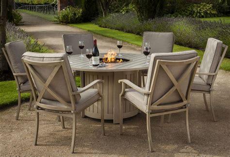 Fire Pit Table Set Innovation For Warm Dinner — Bitdigest