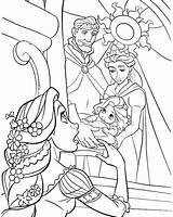 Rapunzel Disney Coloring Tangled Princess Lesson Drawing Printables sketch template