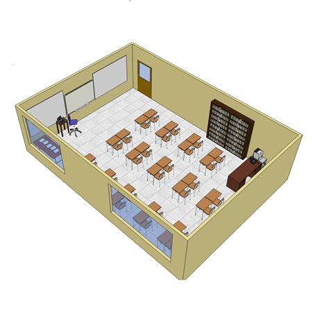 chaise montessori classroom layout furniture free 3d cad