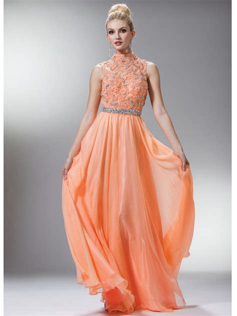 High Neckline Prom Dress Ideas for Modish Girls u2013 Designers Outfits Collection