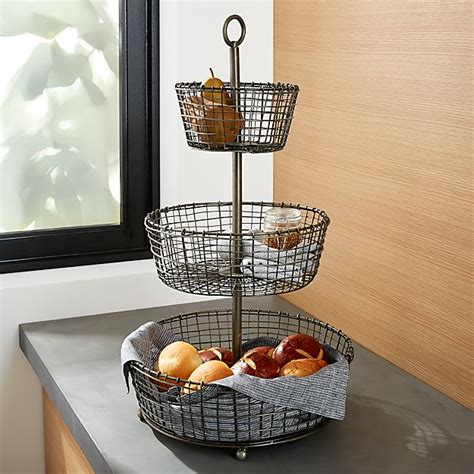 bendt 3tier iron fruit basket reviews crate and barrel