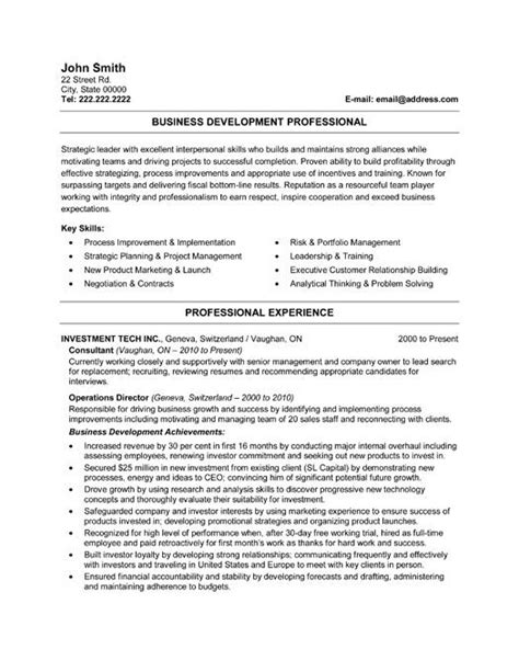 Make A Professional Resume For Free by A Resume Template For A Business Developer You Can