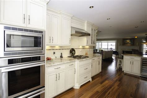 double wall oven wood floors galley kitchen peninsula neptune nj design