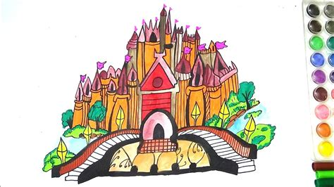 king  queen fort coloring page  kids   draw