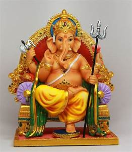 HINDU ELEPHANT GOD GANESHA DESTROYLER OF EVILS STATUE