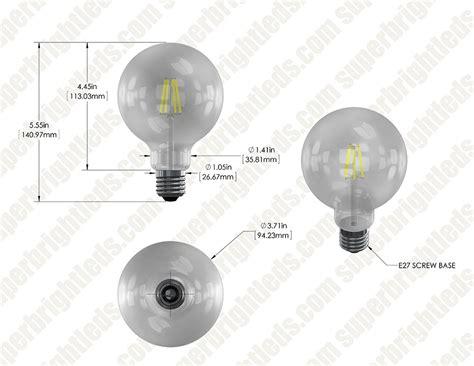 g30 led vanity bulb 60 watt equivalent led filament bulb