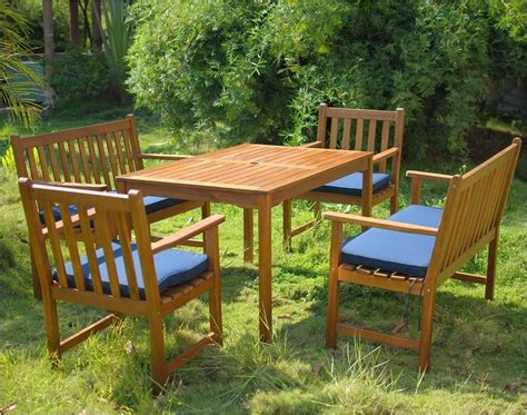 6 seater patio set with cushions simply wood