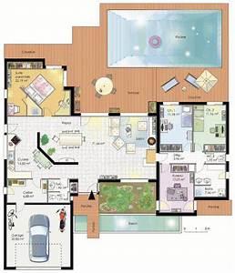 Plan Maison 4 Chambres Avec Suite Parentale : plan de maison avec suite parentale ~ Melissatoandfro.com Idées de Décoration