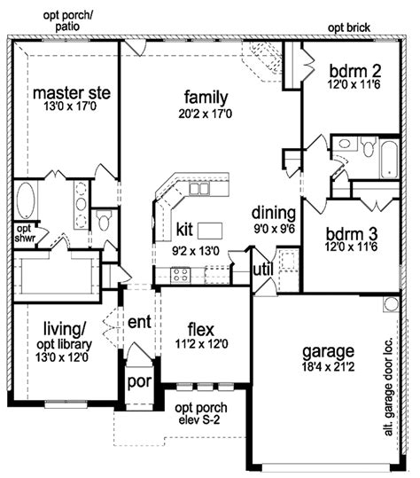 2x4 kitchen cabinets country style house plan 3 beds 2 baths 1940 sq ft plan 1066