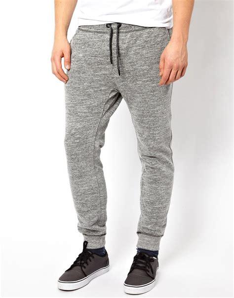 diesel sweat pants pascale tapered melange grey gray