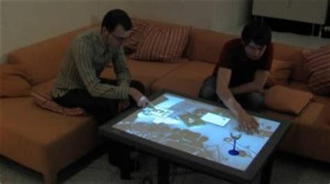 le de bureau tactile cristal transforme votre table basse en une télécommande
