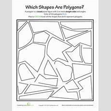 Identifying Polygons  Worksheet Educationcom