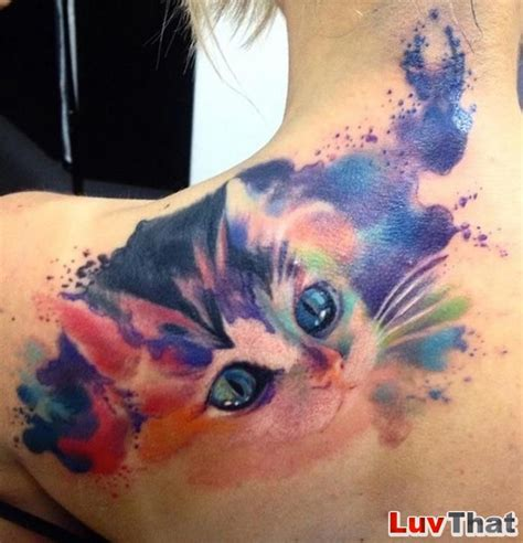 great watercolor tattoos luvthat