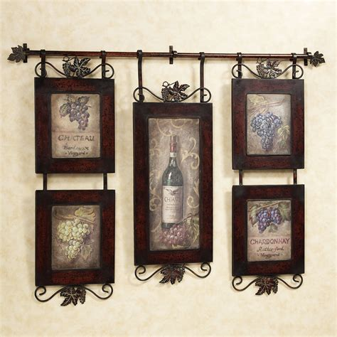 wall decorations for kitchen emilion wine wall art wall decor kitchens and walls