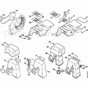 Stihl 026 Chainsaw  026  Parts Diagram  Covers