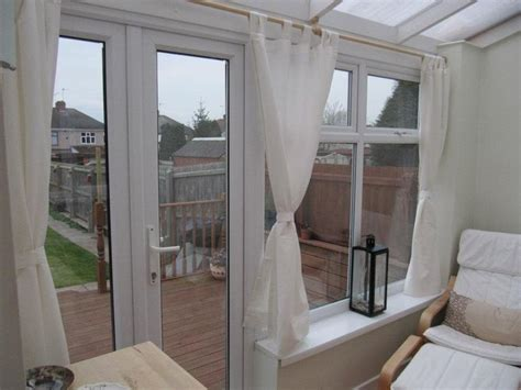 curtains in our conservatory conservatory