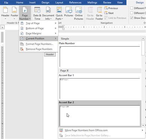 How To Add An Accent In Word by Page Numbers Microsoft Office Belajar Office
