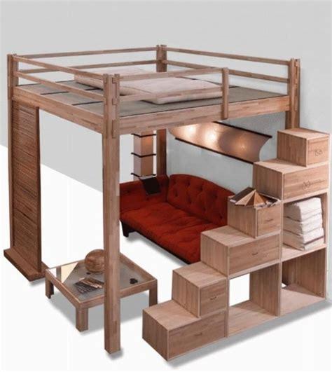 lit mezzanine avec canapé lit mezzanine deux places fonctionalité et variantes