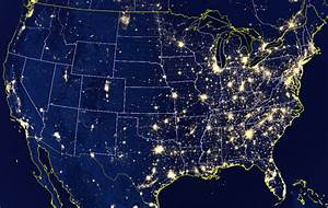 United States at Night NASA - Pics about space