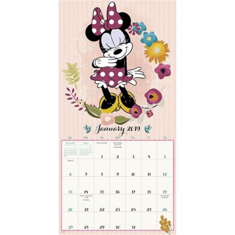 Minnie Mouse 2019 Mini Wall Calendar