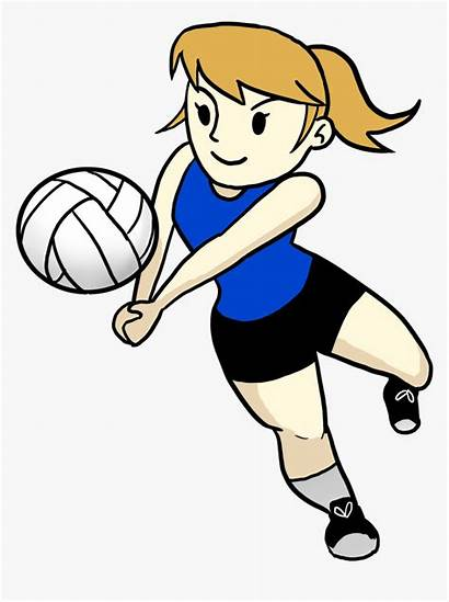 Volleyball Playing Cartoon Clipart Clip Emojis Play