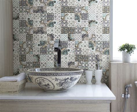 patchwork backsplash  country style kitchen ideas