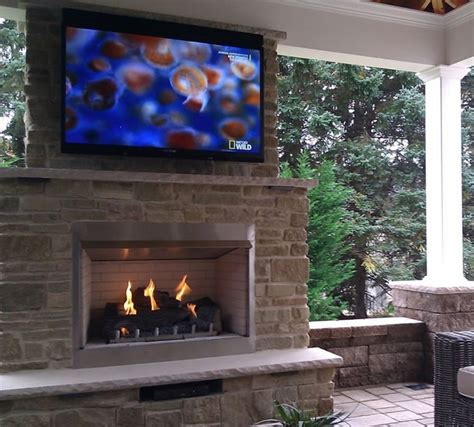 """36"""" Outdoor Gas Fireplace Electronic Ignition  Fine's Gas"""