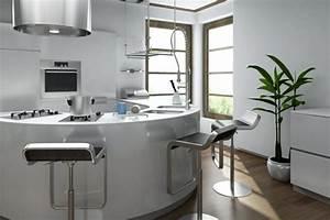 la cuisine arrondie dans 41 photos pleines d39idees With le d cor de la cuisine