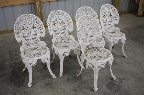 (5) Vintage Cast Iron Patio Chairs