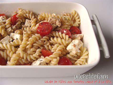 salade de p 226 tes aux tomates cerise et 224 la f 234 ta une