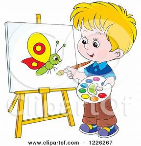 Boy Painting Clipart - Clipart Kid
