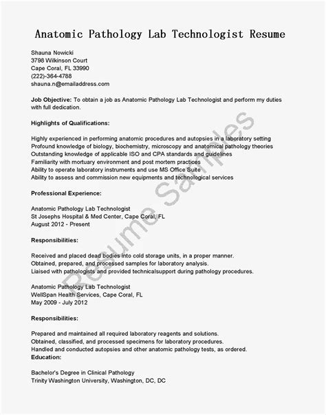 Laboratory Resume Objective by New Dental Lab Technician Sle Resume Resume Daily