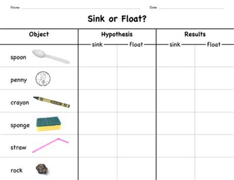 sink or float experiment sink or float experiment graphic organizer