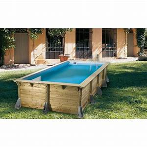 Piscine Enterrée Rectangulaire : piscine bois rectangulaire azura nortland ubbink piscine shop ~ Farleysfitness.com Idées de Décoration