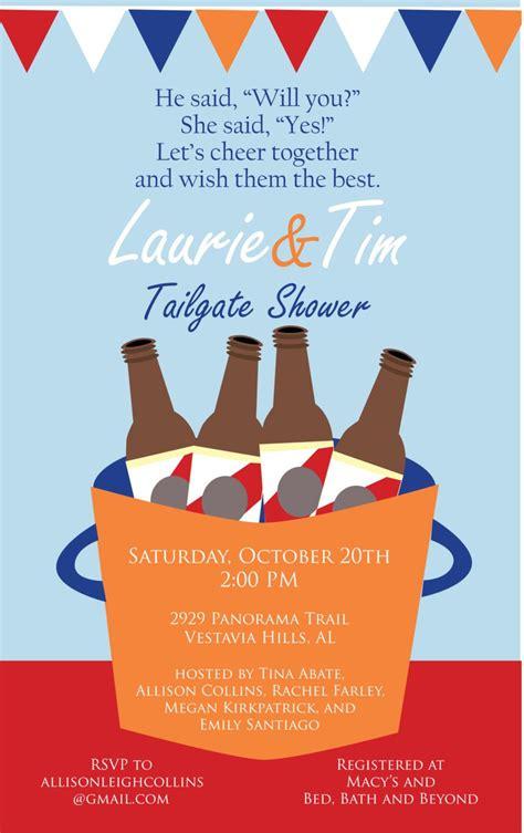 Tailgate Couples Shower Invitation and theme idea #
