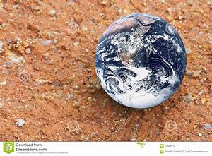 Planet Earth on Red Earth stock photo. Image of global ...