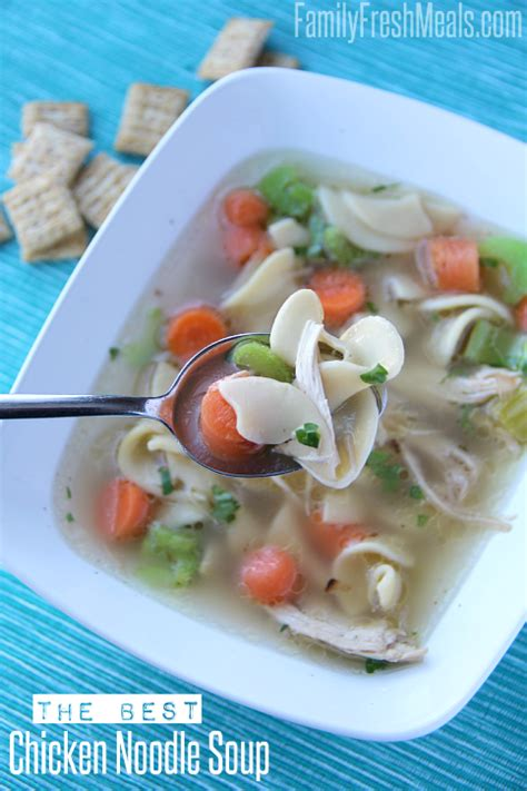 best chicken noodle soup the best homemade chicken noodle soup family fresh meals
