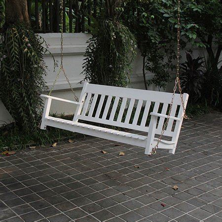 white porch swing better homes and gardens delahey outdoor porch swing