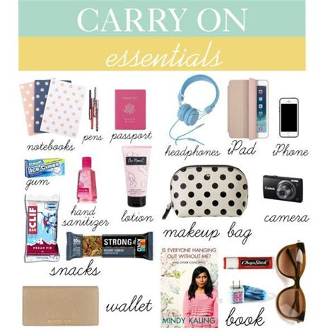 quot carry on essentials quot by zayrand on polyvore travel