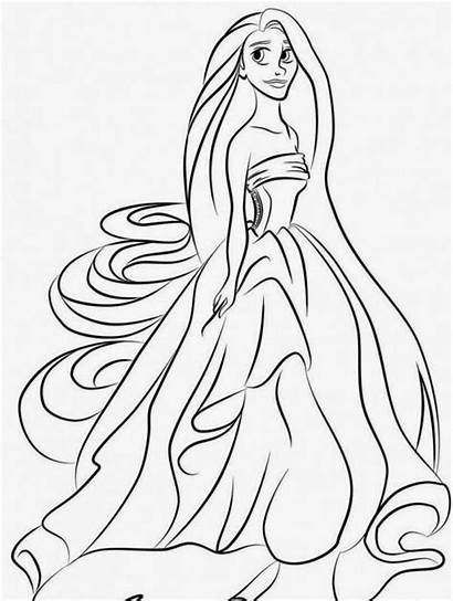 Coloring Tangled Pages Rapunzel Printable Gothel Maximus