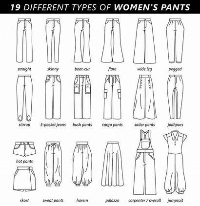Pants Types Different Trousers Drawing Pantalones Moda