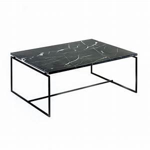 Table Basse Marbre But : table nero en marbre noir serax ~ Teatrodelosmanantiales.com Idées de Décoration