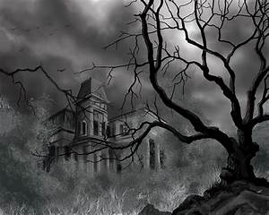 The Dark Mansion Painting by James Christopher Hill