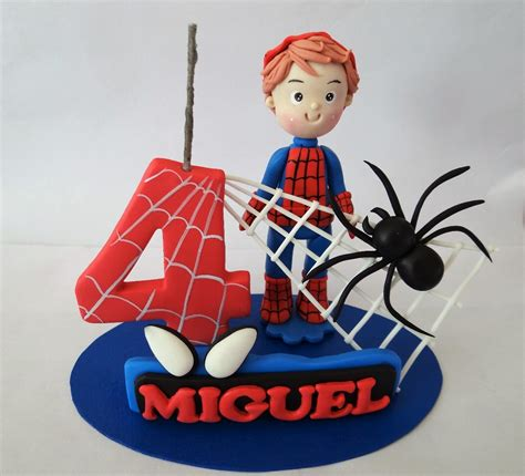 1 topo de bolo homem aranha personagem teia e aranha r 80 00 em mercado livre